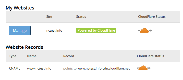 cloudflare in cpanel